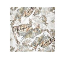 Cat Newspaper Collage on (Light) Scarf