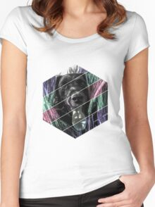 Dog Hexagon Women's Fitted Scoop T-Shirt