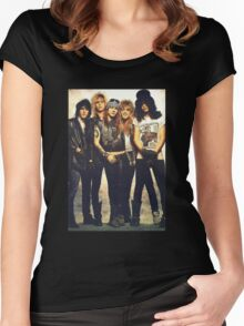 guns and roses Women's Fitted Scoop T-Shirt