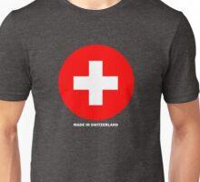 Drapeau suisse rond Unisex T-Shirt