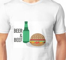 Beer and Beef Logo Unisex T-Shirt
