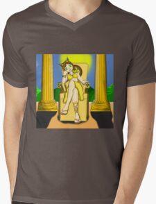 Reine femme-chat Mens V-Neck T-Shirt