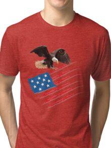 America US Flag Tri-blend T-Shirt