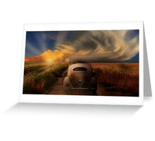Off Into Sunset Greeting Card