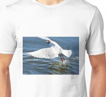 """Start"" ,  Black-headed gull  ( Chroicocephalus ridibundus )  Mewa śmieszka Unisex T-Shirt"