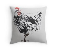 Black Chicken Throw Pillow
