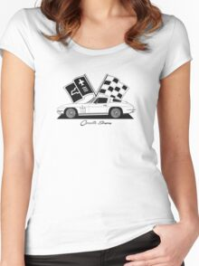 Chevrolet Corvette Sting Ray (C2) '1965 Women's Fitted Scoop T-Shirt