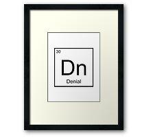The Element of Denial Framed Print