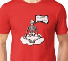 Skelett meditiert Unisex T-Shirt