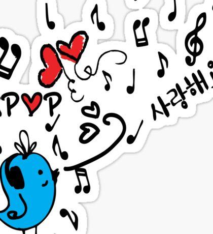 LOVE  KPOP BLUE BIRD Sticker