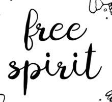Free Spirit Flower Crown - Typography  Sticker