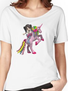 Amelia loves riding on a sunday  Women's Relaxed Fit T-Shirt