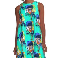 Vincent Van Gorilla A-Line Dress