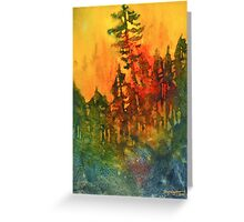 Forest Fire #5 Greeting Card