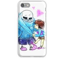 Sans and cute lil' Frisk iPhone Case/Skin