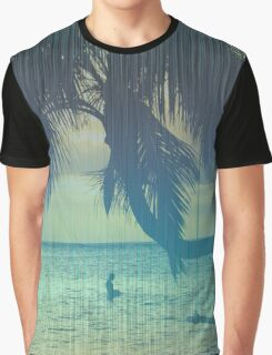 Tropical beach Graphic T-Shirt