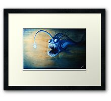 Angler Fish Deep Sea Creature - let me lure you in Framed Print