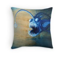 Angler Fish Deep Sea Creature - let me lure you in Throw Pillow