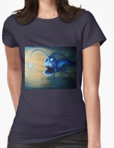 Angler Fish Deep Sea Creature - let me lure you in Womens Fitted T-Shirt