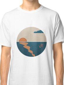 Simplistic Ocean Horizon  Classic T-Shirt