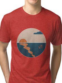 Simplistic Ocean Horizon  Tri-blend T-Shirt