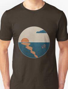 Simplistic Ocean Horizon  Unisex T-Shirt
