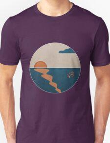Simplistic Ocean Horizon  T-Shirt