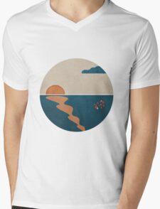 Simplistic Ocean Horizon  Mens V-Neck T-Shirt