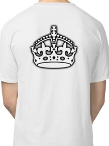 CROWN, British Crown UK, Her Majesty the Queen; white Classic T-Shirt
