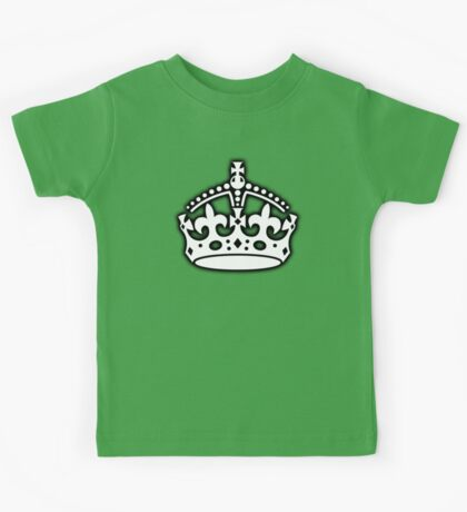 CROWN, British Crown UK, Her Majesty the Queen; white Kids Tee