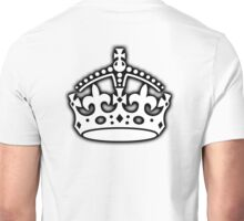 CROWN, British Crown UK, Her Majesty the Queen; white Unisex T-Shirt