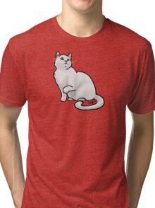 Big White Cat Tri-blend T-Shirt