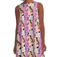 Pink pop art romance, tears, kisses A-Line Dress