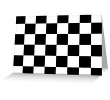 Checkered Flag, Chequered Flag, Checkerboard, Pattern, WIN, WINNER,  Racing Cars, Race, Finish line, BLACK Greeting Card