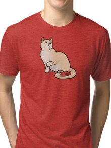 Big Yellow Cat Tri-blend T-Shirt