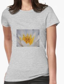 Water lily close up Womens Fitted T-Shirt