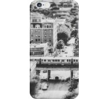 Uptown Chicago L in Black and White iPhone Case/Skin