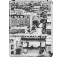 Uptown Chicago L in Black and White iPad Case/Skin