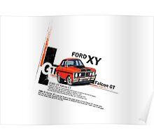 XY GT HO Ford Falcon Cartoon - Freddy Poster