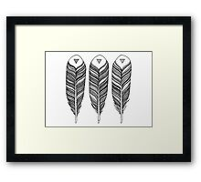 Tribal Feather Framed Print
