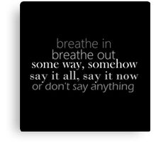 Don't Say Anything lyric quote Canvas Print