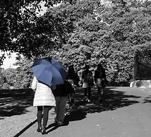 Lady with the Blue Umbrella 3 by Deborah McGrath