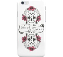 Mexican Day of the death spanish text vector decoration iPhone Case/Skin