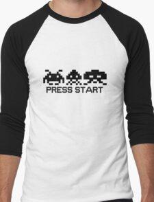Press Start - Space Invader PixelArt Men's Baseball ¾ T-Shirt