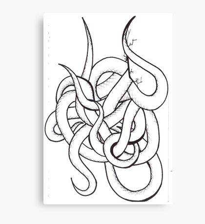 Tangle of Tentacles Canvas Print