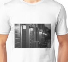 Rainy Night Motel II BW Unisex T-Shirt