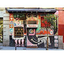 Street Art in Madrid 2 Photographic Print
