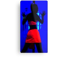The effects of UV (black light) on reflective clothing Metal Print