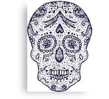 Mexican Day of the death spanish text vector decoration  Canvas Print