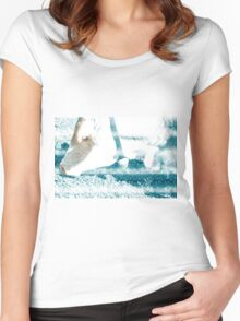 Cow with Bell. Photographed in Tirol, Austria Women's Fitted Scoop T-Shirt